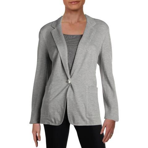 Lafayette 148 New York Womens Bridget One-Button Blazer Button Office