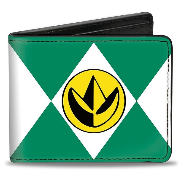 Diamond Green Ranger Dragonzord Power Logo Bi Fold Wallet - One Size Fits most