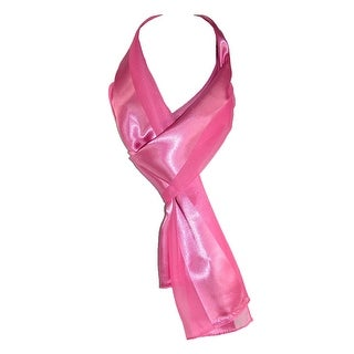 CTM® Women's Long Satin Solid Color Scarf - One size