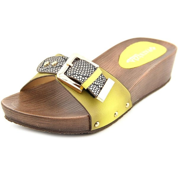 Patrizia By Spring Step Celine Open Toe Leather Slides Sandal