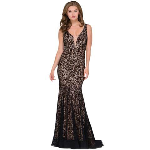 Jovani 42784A Lace Prom Evening Dress