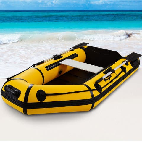 Goplus 2 Person 7.5FT Inflatable Dinghy Boat Fishing Tender Rafting