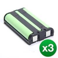 Replacement Battery For Panasonic KX-TG2313  Cordless Phones - P104 (850mAh, 3.6V, Ni-MH) - 3 Pack