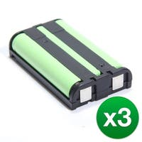 Replacement Battery For Panasonic KX-TG2431  Cordless Phones - P104 (850mAh, 3.6V, Ni-MH) - 3 Pack