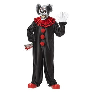 California Costumes Last Laugh, The Clown Adult Costume - Black/Red - One size