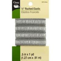 """Gray - Ruched Elastic .5""""X1yd"""