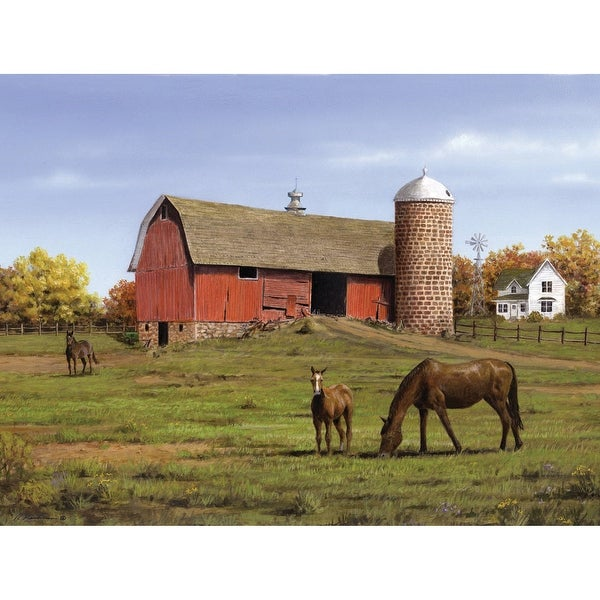 "Paint By Number Kit Artist's Collection 12""X16""-Horse & Barn"