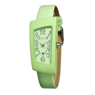 Crayo Angles Unisex Quartz Watch, Genuine Leather Band, Luminous Hands