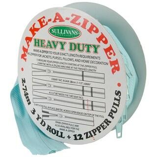 Make-A-Zipper Kit Heavy-Duty 3yd-Aqua Blue - Aqua Blue