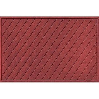20377550035 Water Guard Argyle Mat in Red/Black - 3 ft. x 5 ft.