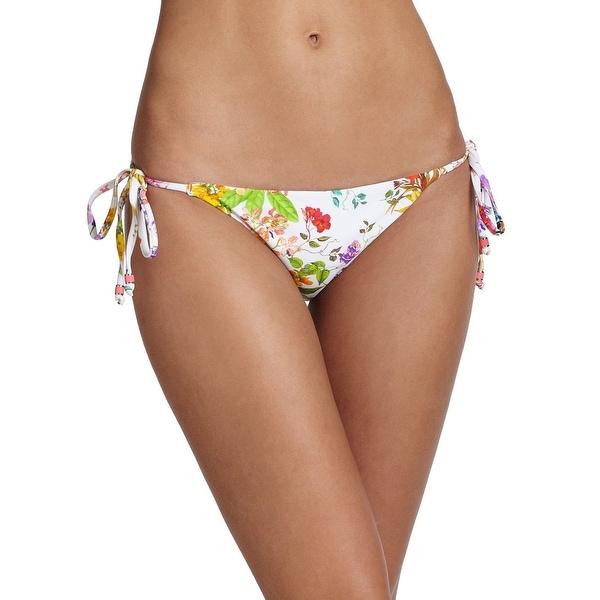 Shoshanna Women's Clean String Bottom White Multi Swimsuit Bottoms SZ SMALL (P)