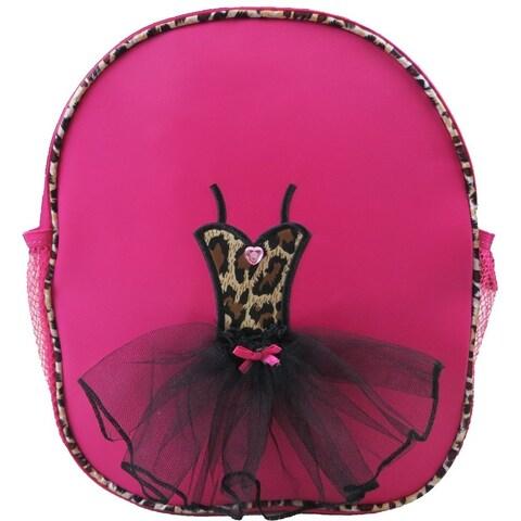 Wenchoice Girls Hot Pink Leopard Ballet Tutu Dress Detail Stylish Backpack - One size