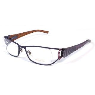 Boucheron Unisex Curved Rectangular Eyeglasses Purple - S