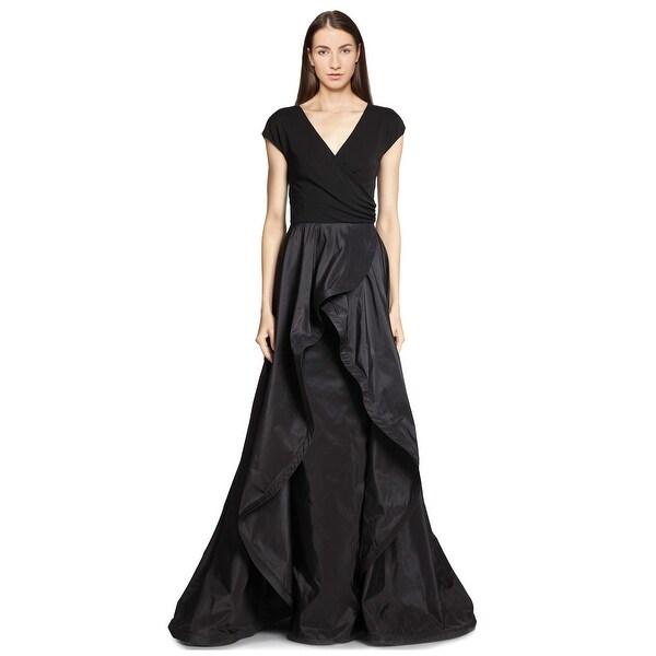 Teri Jon Jersey Taffeta Surplice Neckline Evening Gown Dress - 12 ...