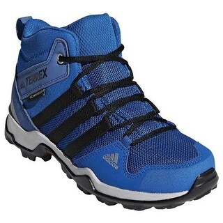 adidas Children's Terrex AX 2.0 R Mid Climaproof Hiking Shoe Black/Black/Black
