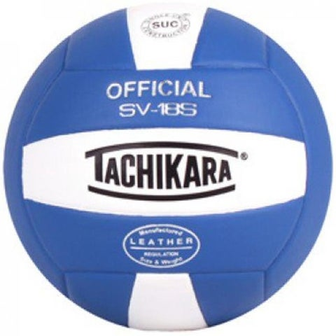 Tachikara Composite Leather Volleyball, Royal Blue & White