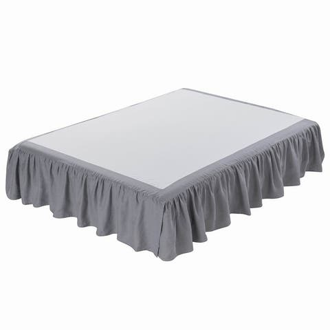 Linen Bed Skirt-Washed Dust Ruffle