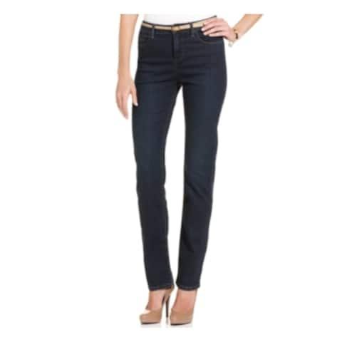 LEE Womens Blue Denim Straight leg Jeans Size 14