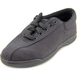 Easy Spirit Ap1 Women Round Toe Canvas Black Sneakers