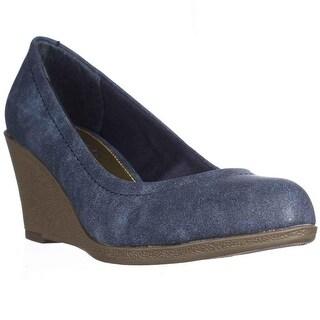 AL35 Mikala Wedge Heels - Blue