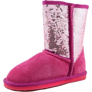 Lamo Kids Sequin Boot Youth Round Toe Leather Pink Winter Boot