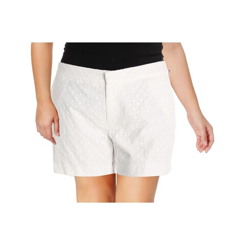 Tommy Hilfiger Womens Casual Shorts Woven Flat Front