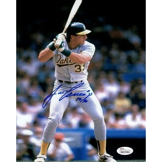 "Jose Canseco Autographed Oakland Athletics 8x10 w/""40/40"" JSA"