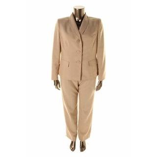 Le Suit Womens Boboli Gardens 2PC Shawl Collar Pant Suit - 12