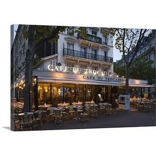Premium Thick-Wrap Canvas entitled Cafe Du Trocadero, Paris, Ile de France, France