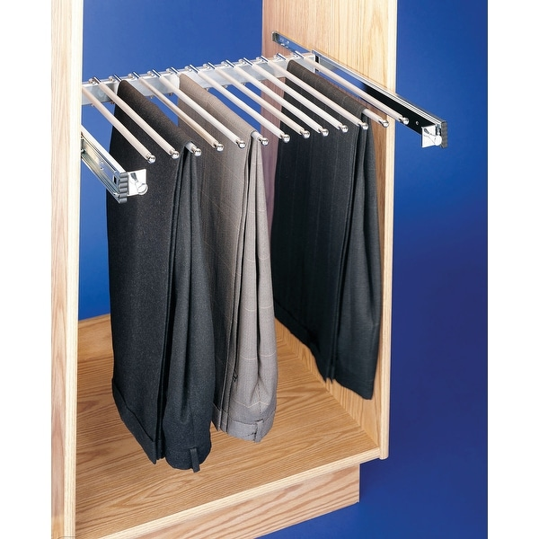 """Rev-A-Shelf PSC-2414 PSC Series 14"""" Depth Pull Out Rack for 13 Pairs of Pants - Chrome"""