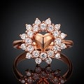 Lovely Love Rose Gold Ring - Thumbnail 1