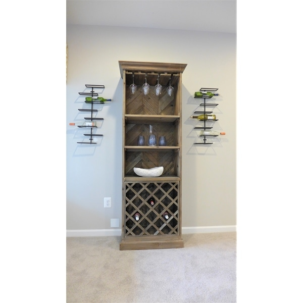 b89c2bce37 Final Touch Wall Mounted 18 Bottle Wine Rack Product Specialties Inc. Wall-Mounted  Wine Racks