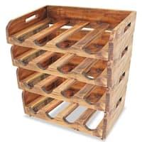 vidaXL Solid Reclaimed Wood 4x Wine Rack for 16 Bottles Holder Storage Shelf