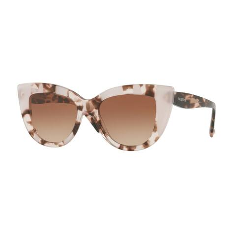 Valentino VA4025 505713 51 Havana Pink Inserts Opal Pink Woman Cat Eye Sunglasses