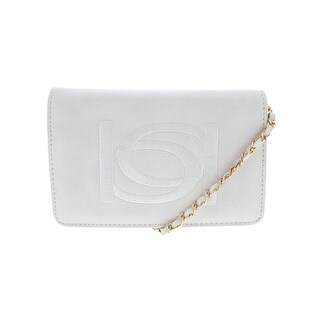 Bebe Womens Andrea Crossbody Handbag Faux Leather Clutch - small
