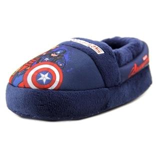 Marvel Heroes Avengers Slipper Toddler Round Toe Canvas Blue Slipper