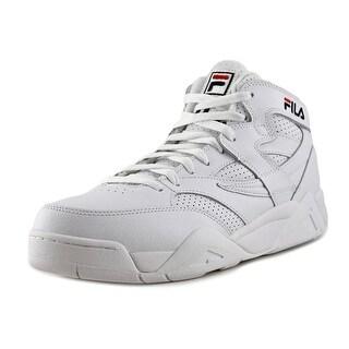 Fila M Squad Men Round Toe Leather White Sneakers