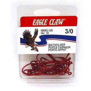 Eagle Claw Red Baitholder 20ct Size 1/0