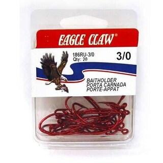 Eagle Claw Red Baitholder 20ct Size 6