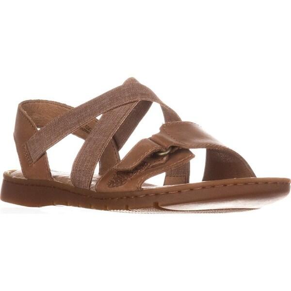 Born Britton Flats Strappy Sandals, Brown