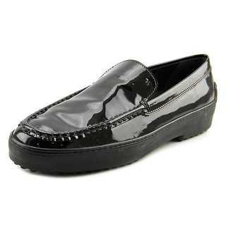 Tod's Gommini Cassetta Pantofola Women Round Toe Patent Leather Black Loafer