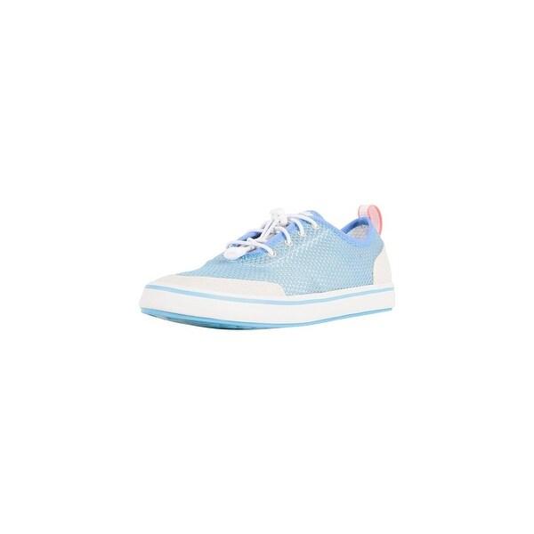 Xtratuf Women's Riptide Deck Blue Shoes w/ Iconic Chevron Outsole Pattern - Size 7.5