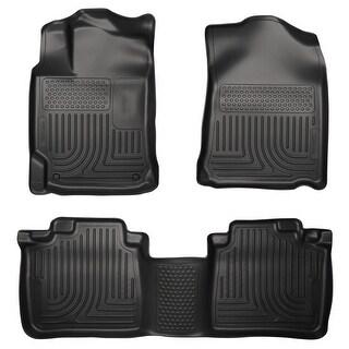 Husky Weatherbeater 2013-2015 Lexus ES300h, 2013-2016 Lexus ES350 Black Front & Rear Floor Mats/Liners