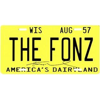 Henry Winkler Signed Fonz Wisconsin Yellow License Plate