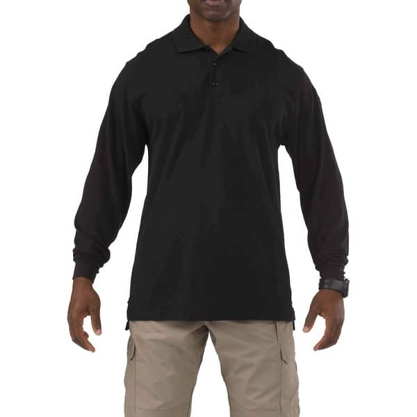 d86b218432b2a2 Shop 5.11 Tactical Black Mens Size 3XL Bug Tall Polo Collared Shirt - Free  Shipping On Orders Over $45 - Overstock - 27281652