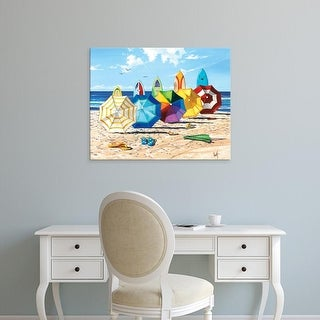 Easy Art Prints Scott Westmoreland's 'Brellas & Boards' Premium Canvas Art