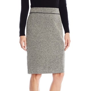 Kasper NEW Heather Gray Women's Size 4 Tweed Straight Pencil Skirt