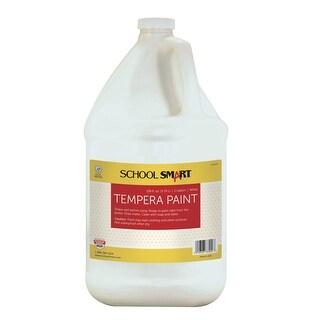 School Smart Non-Toxic Multi-Purpose Liquid Tempera Paint, 1 gal Plastic Bottle, White