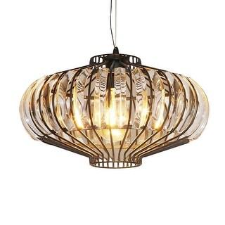Shop Modern crystal hanging light, pumpkin pendant light fixture - Free Shipping Today - Overstock.com - 24127089