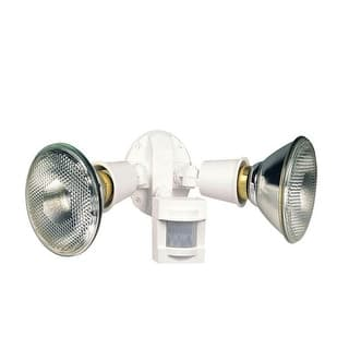 Shop All Pro Ms34w White Motion Detector Floodlight Free